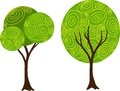 Hand drawn vector decorative tree set for your design Stock Photo