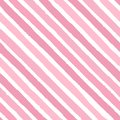 Hand drawn vector diagonal grunge stripes of bright pink colors seamless pattern on the white background Royalty Free Stock Photo