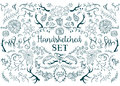 Hand drawn vector elements Royalty Free Stock Photo