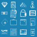Hand drawn vector illustration of business doodles Royalty Free Stock Photo