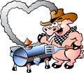 Illustration Of An Pig Making ...