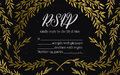 Hand drawn vector illustration - wedding invitation RSVP