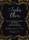 Hand drawn vector illustration - wedding invitation with vintage