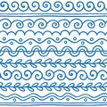 Hand drawn vector line border set and scribble design element.