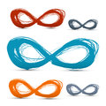 Hand Drawn Vector Paper Infinity Symbols Set Royalty Free Stock Photo