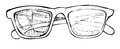 Hand drawn vector sunglasses. Line art Royalty Free Stock Photo