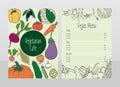 Hand Drawn Vegetarian Cafe Menu Template