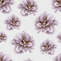 Hand drawn vintage hibiscus pattern penciled seamless Stock Images