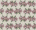 Hand drawn vintage lily seamless pattern gentle with pink flowers Stock Image