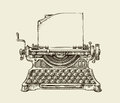 Hand Drawn Vintage Typewriter....