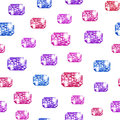Hand drawn watercolor colorful gemstones pattern