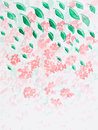 Hand drawn watercolor illustration of beautiful wild pink flowers Royalty Free Stock Photography