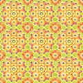 Hand drawn watercolor orange seamless pattern