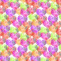 stock image of  Hand-drawn watercolor textural heart Valentin seamless pattern translucent