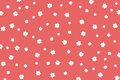 Hand drawn white flowers pattern
