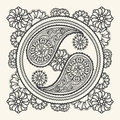 Hand drawn yin-yang sign Royalty Free Stock Photo