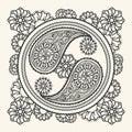Hand drawn yin-yang sign Royalty Free Stock Photo