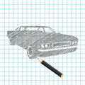Hand-drown car sketch Royalty Free Stock Photos
