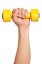 Hand with dumbbells Stock Photography