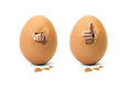 Hand in egg Royalty Free Stock Photo