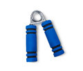 Hand Exercising Flexor Blue color. Isolated on White Background Royalty Free Stock Photo