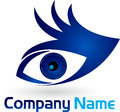 Hand eye logo illustration art of a with isolated background Stock Photography