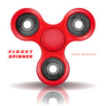 Hand fidget spinner. Stress-relieving toy