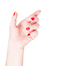 Hand finger touch isolated on white background Stock Photo