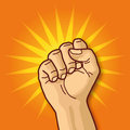 Hand fist and aggressiveness fight power Royalty Free Stock Photo