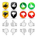 Hand Gesture - Set 1 - Thumbs Royalty Free Stock Photography