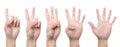1 2 3 4 5 hand