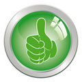 Hand gesture with thumb up. Royalty Free Stock Photography