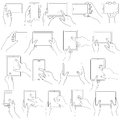 Hand gesture for touchscreen vector illustration of collection of Stock Image