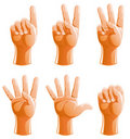 Hand Gestures Illustration Royalty Free Stock Images