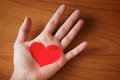 Hand giving heart Royalty Free Stock Photography