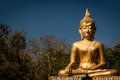Hand of Golden Buddha statue Royalty Free Stock Photo