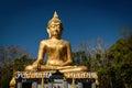 Hand of Golden Buddha statue Royalty Free Stock Photo