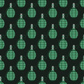 Hand grenade bomb explosion weapons seamless pattern vector illustration