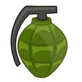 Hand grenade isolated illustration on white background Royalty Free Stock Image