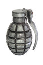 Hand grenade isolated over a white background explosive ammunition Stock Photo