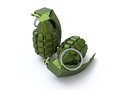 Hand grenades d two Stock Image