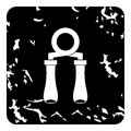 Hand grip exerciser icon, grunge style Royalty Free Stock Photo