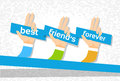 Hand Group Best Friends Forever Friendship Day Banner Royalty Free Stock Photo