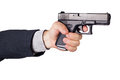 Hand with gun Royalty Free Stock Photo