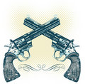 Hand guns vector illustration Stock Photos