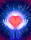 Hand Heart Light Beam Magic Po...