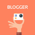 Hand Hold Camera Video Blog Concept Royalty Free Stock Photo