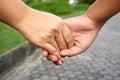 Hand hold hand