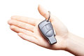 Hand holding car keys Stock Images