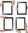 Hand holding digital tablet blank screen Royalty Free Stock Photos